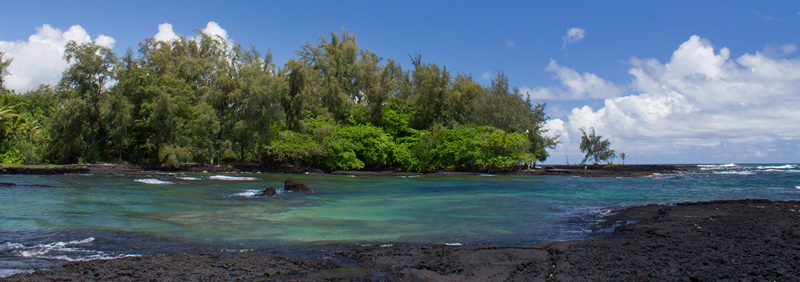 At the shore in Hilo Hawaii.
